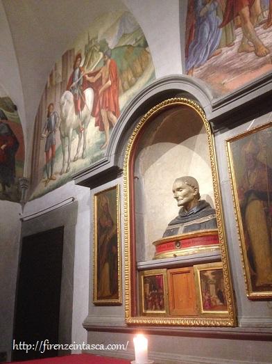 フィレンツェ、サン・マルティーノ小礼拝堂、サンタントニーノの胸像