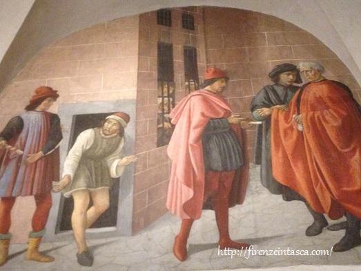フィレンツェ、サン・マルティーノ小礼拝堂、フレスコ画