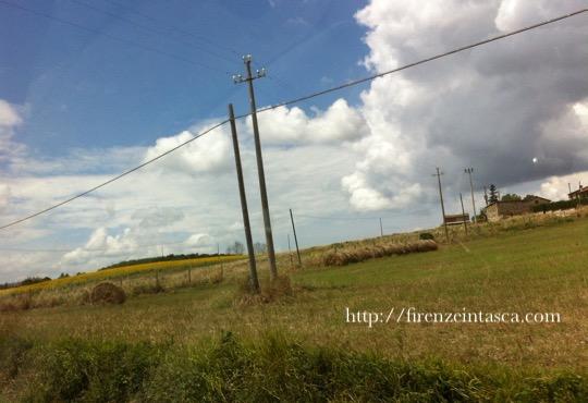 トスカーナの電車からの景色