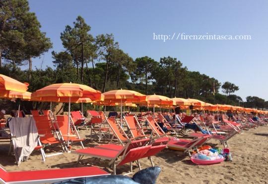 トスカーナのビーチ