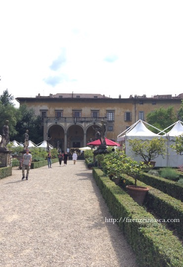 フィレンツェの庭園での祭典