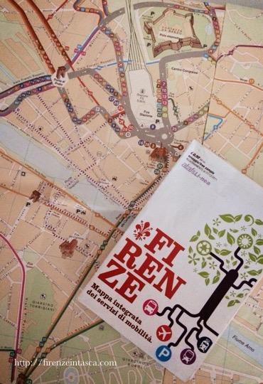 フィレンツェのバスの地図