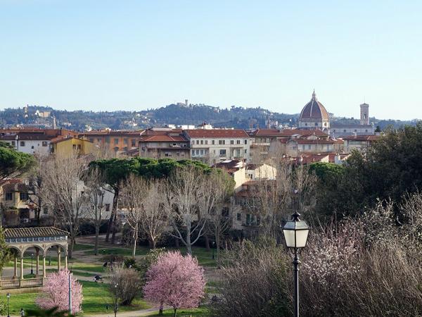 丘の上の公園より眺めるフィレンツェの街