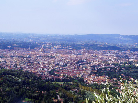 フィエーゾレからフィレンツェを眺める