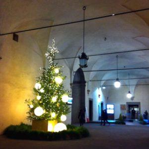 ヴェッキオ宮のクリスマスツリー