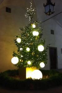 ヴェッキオ宮のクリスマスツリー2