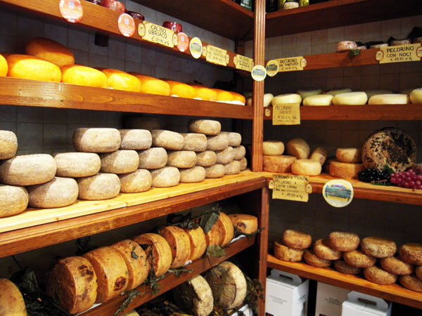 モンタルチーノとチーズのワイナリーツアー