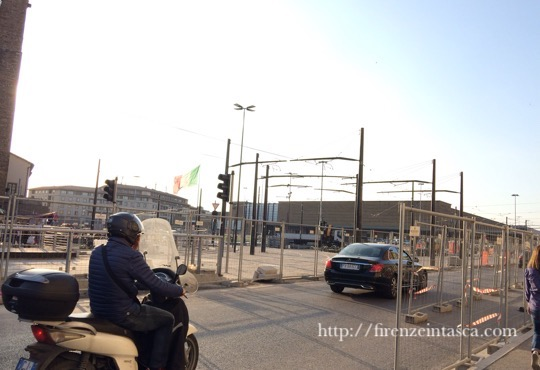 フィレンツェ駅前工事
