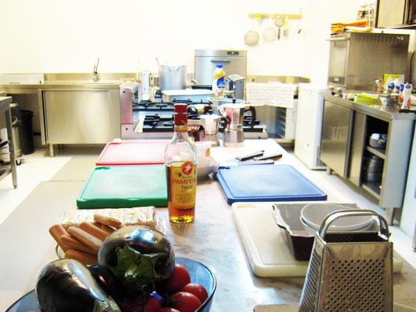 広々したキッチン