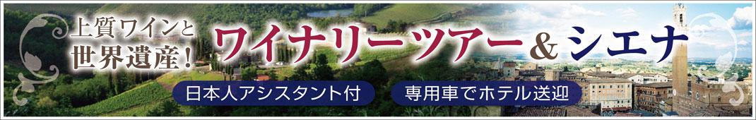 ワイナリーと世界遺産シエナ観光、両方楽しむ欲ばり1日ツアー!