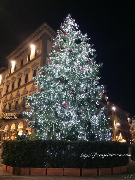 フィレンツェドゥオーモのクリスマスツリー