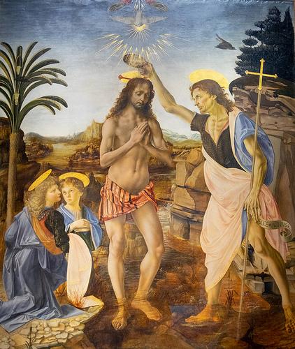 レオナルドダヴィンチキリストの洗礼