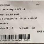 ウフィッツィ美術館のチケット