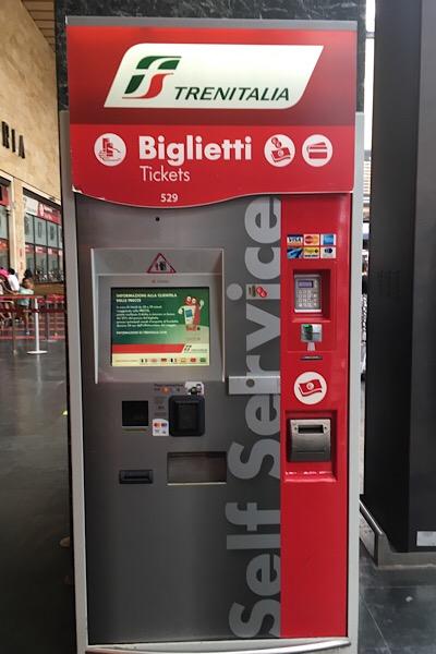 イタリア国鉄の券売機