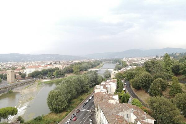 サンニコロの塔からのフィレンツェの景色