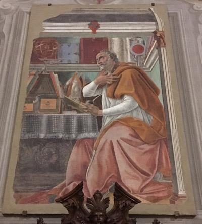 フレスコ画サンタゴスティーノ