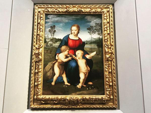 ラファエロ、ひわの聖母