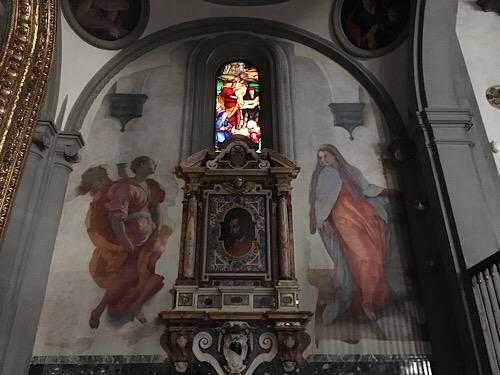 フィレンツェ、サンタフェリチタ教会祭壇画