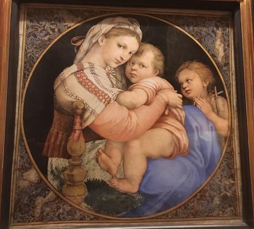 ピッティ宮殿小椅子の聖母の模写