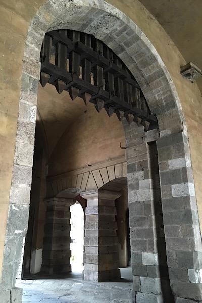ルッカの市壁の内部