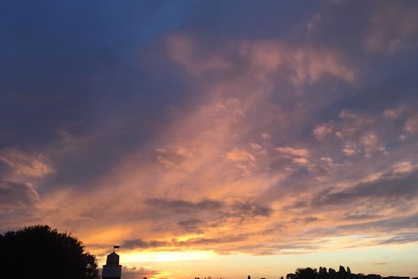 フィレンツェの夕焼け