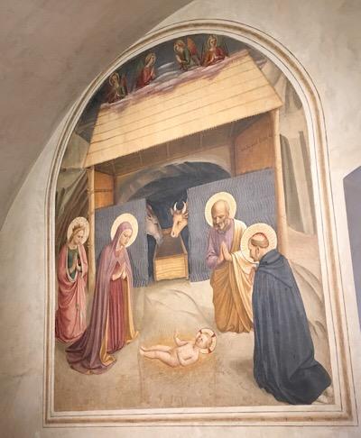 僧房のフレスコ画キリストの誕生
