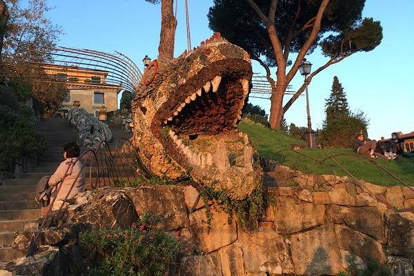 フィレンツェ、オルティコルトゥーラ庭園の噴水
