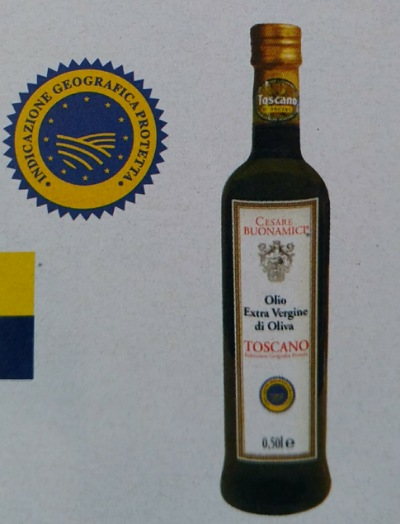 IGPマークとトスカーナのオリーブオイル
