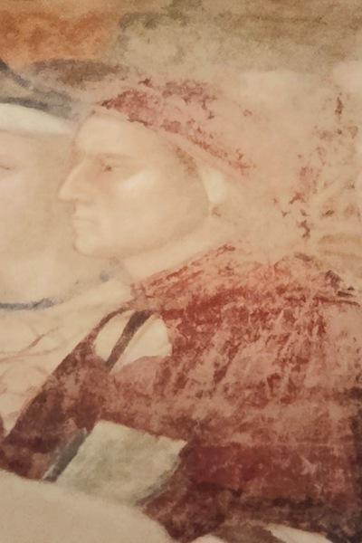 天国のダンテの肖像部分